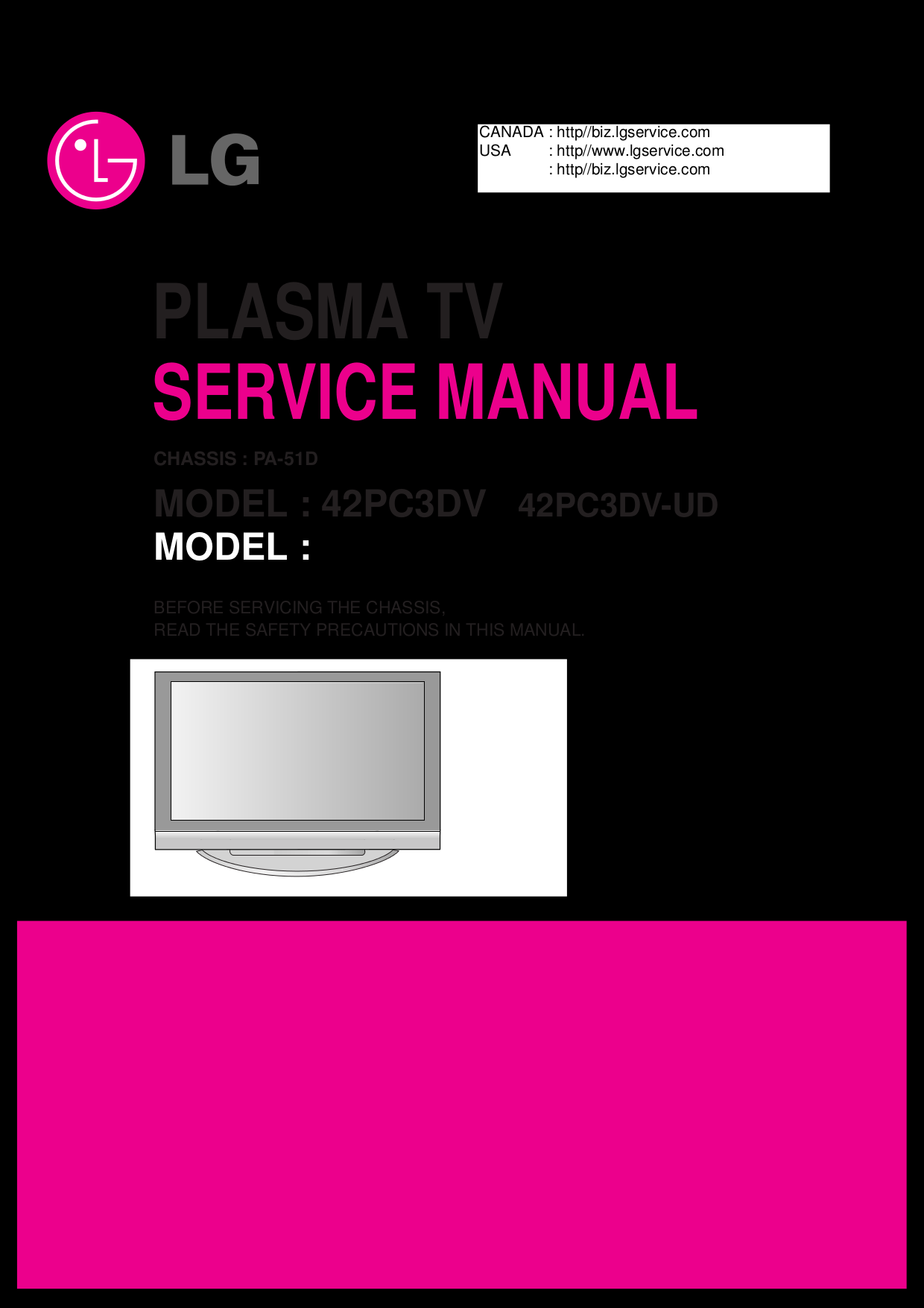 download free pdf for lg 42pc3dv tv manual rh umlib com Parts Manual Repair Manuals